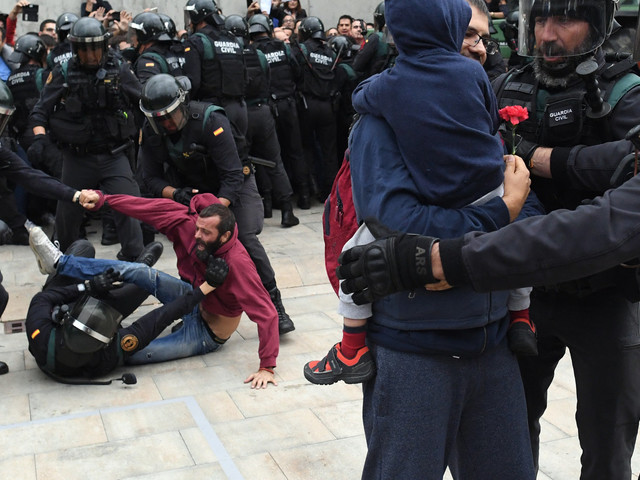 Catalonia Referendum Immediately Marred By Violence As Police Move To Prevent Voting