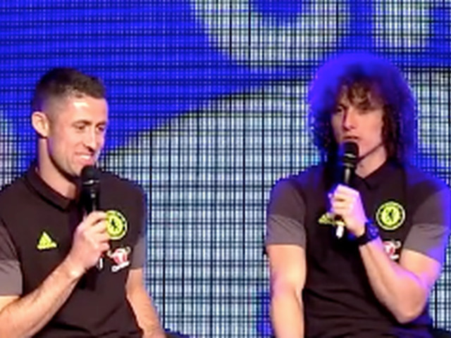 David Luiz unveils his Conte impression while describing the rigors of Chelsea training