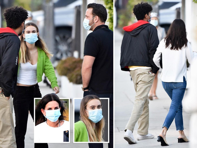 Courteney Cox's look-alike daughter Coco Arquette, 16, spotted introducing a possible new boyfriend to famous mom
