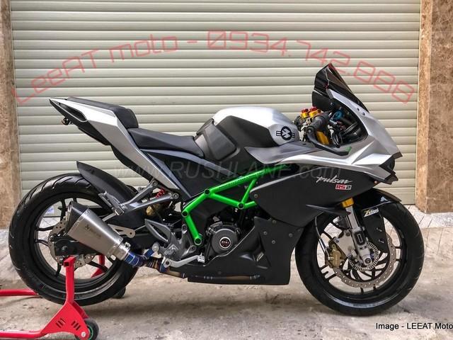 Bajaj Pulsar RS200 modified to look like Kawasaki Ninja H2 – Take a look