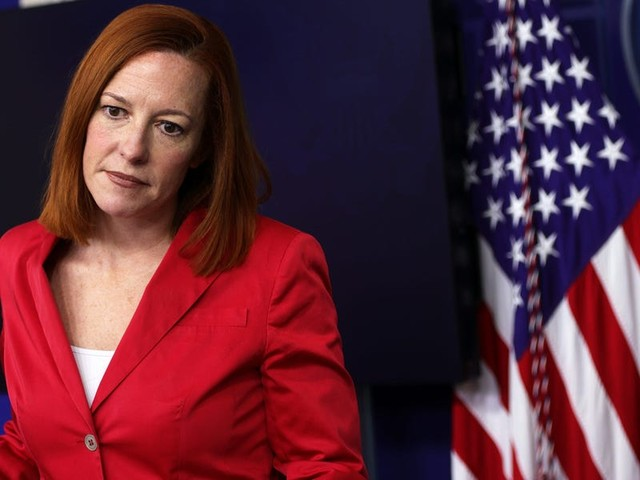 Jen Psaki shoots down Fox News reporter Peter Doocy's 'loaded and inaccurate' claim that the White House is 'spying' on Facebook profiles
