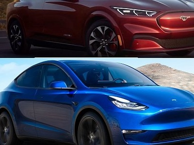 Photo Comparison: Ford Mustang Mach-E Looks Eerily Similar to Tesla Model Y