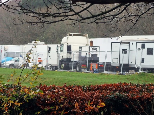 Crews take over Liverpool park for mystery filming