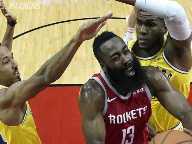 James Harden scores 27 as Rockets blowout defending champion Warriors