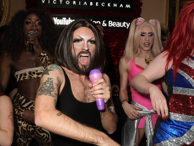 Victoria Beckham Surprised With Spice Girls Drag Act At London Fashion Week Party