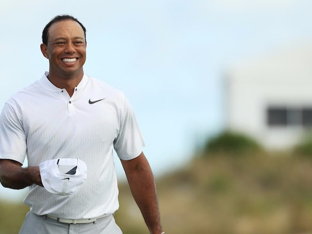 Other golfers were so excited about Tiger Woods' return that they were asking for updates on him in the middle of their rounds