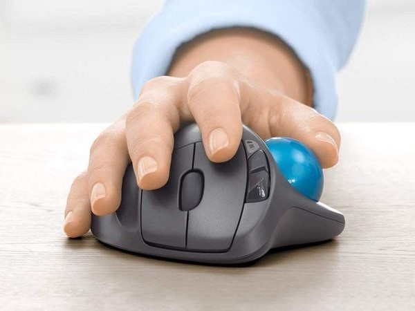 All-Day Comfort Computer Mouses - The Logitech M570 Wireless Trackball Mouse Offers Stability (TrendHunter.com)