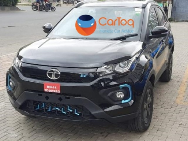 Tata Nexon EV Dark Edition Spotted Sans Camo, Launch Soon
