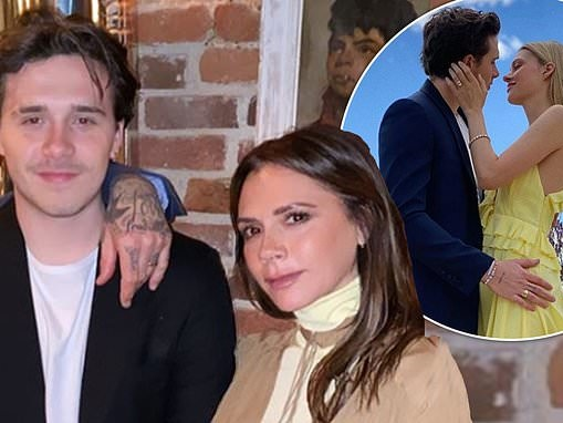 Victoria leads the Beckhams paying tribute to Brooklyn after he confirms his engagement