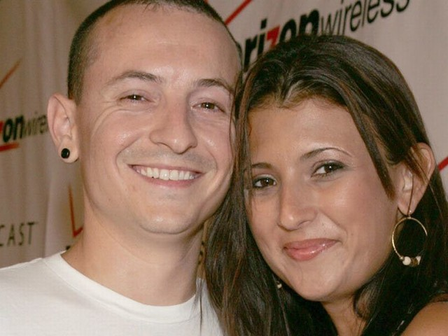 Chester Bennington's wife seen for first time following Linkin Park singer's suicide