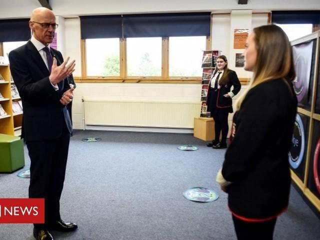 John Swinney 'hears anger' of pupils over SQA results