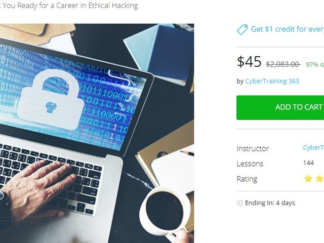 Certified Ethical Hacker kit for only $45