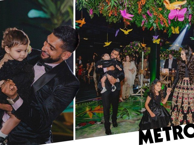 Amir Khan's daughter Alayna gives Stormi Webster a run for her money with OTT first birthday party worth £75,000