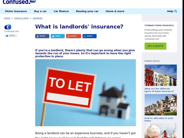 What is landlords' insurance? - Confused.com