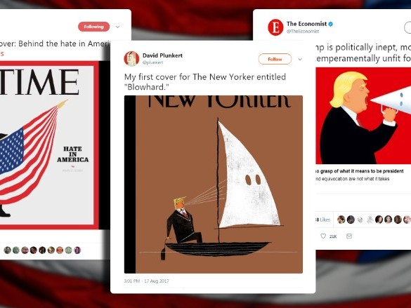 Top magazines take on Trump and hate
