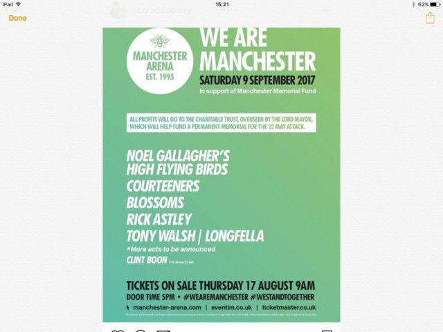 Noel Gallagher headlines Manchester all stars show for arena reopening in Sept