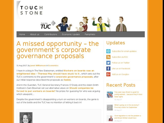 A missed opportunity – the government's corporate governance proposals