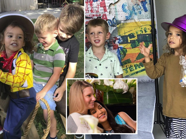 Naya Rivera Glee costar Heather Morris posts photos of her boys playing with late star's son after tragic drowning death