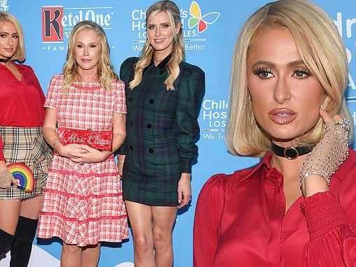 Paris and Nicky Hilton dress to the nines in holiday threads for annual Christmas in September event