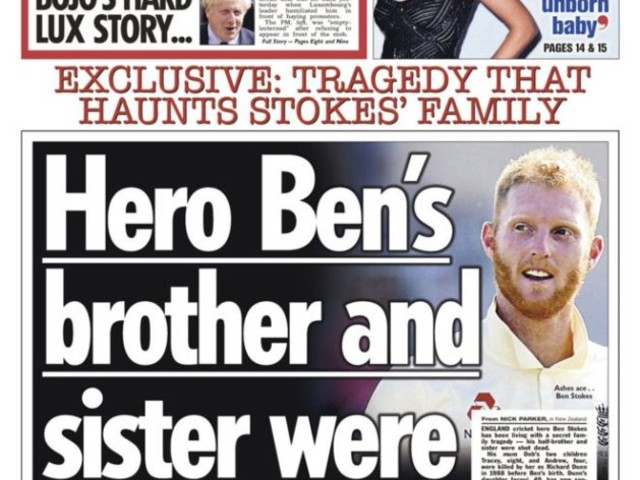 Ben Stokes : the tabloids, murder and the right to be forgotten