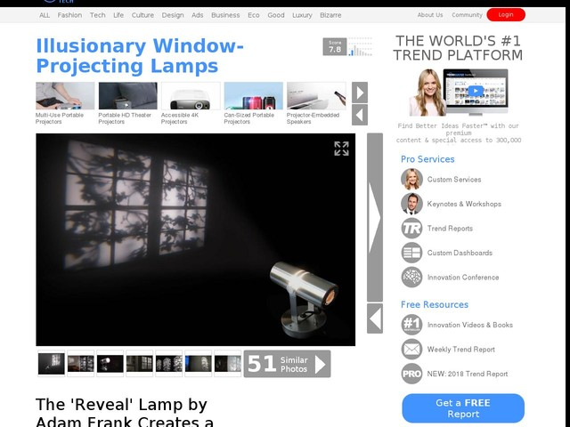 Illusionary Window-Projecting Lamps - The 'Reveal' Lamp by Adam Frank Creates a Faux Window (TrendHunter.com)