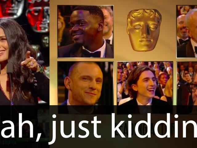 Salma Hayek threw some epic shade at men during her BAFTAs speech