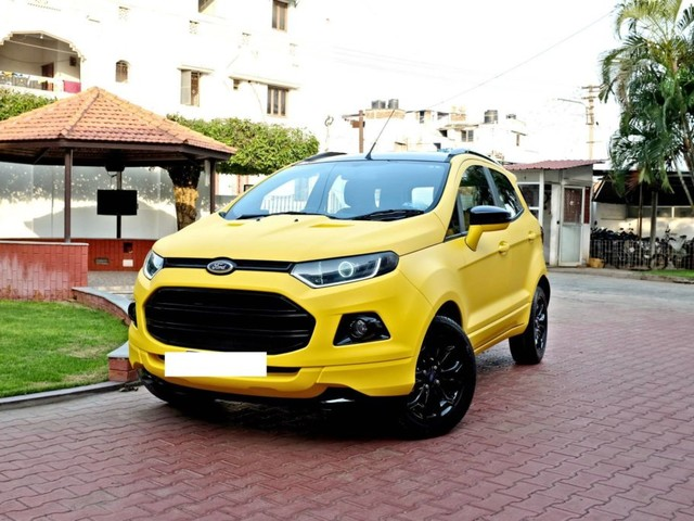 Custom Ford EcoSport with Triple Yellow Matte Paint Job – In Images