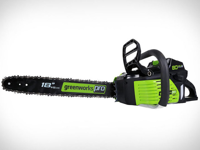 Powerful Wireless Chainsaws - The Greenworks Pro Cordless Chainsaw Boasts a Brushless Motor (TrendHunter.com)