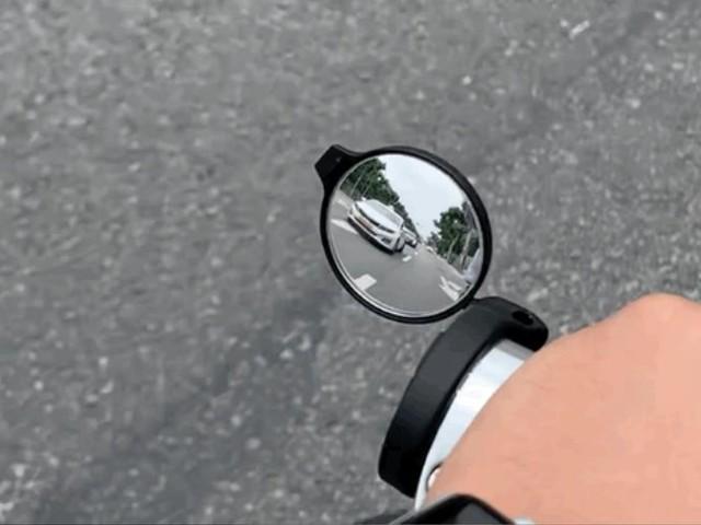 Corky bicycle handlebar rear view mirror