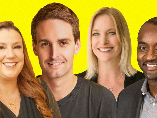 The 31 top power players helping CEO Evan Spiegel run Snap