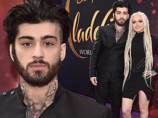 Zayn Malik makes his first red carpet appearance in over A YEAR at Aladdin premiere in LA
