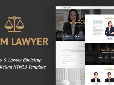 Adam Lawyer - Attorney & Lawyer Bootstrap Parallax Retina HTML5 Template (Business)