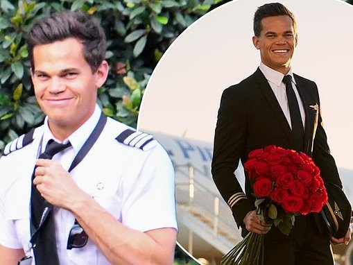 The Bachelor's Jimmy Nicholson is all smiles as he returns to work as a pilot