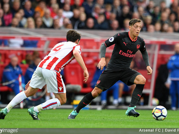 Police Brutality: Stoke Constabulary Troll Irked Arsenal Fan Over 'Missing Person' Mesut Ozil In Wake Of 1-0 Defeat