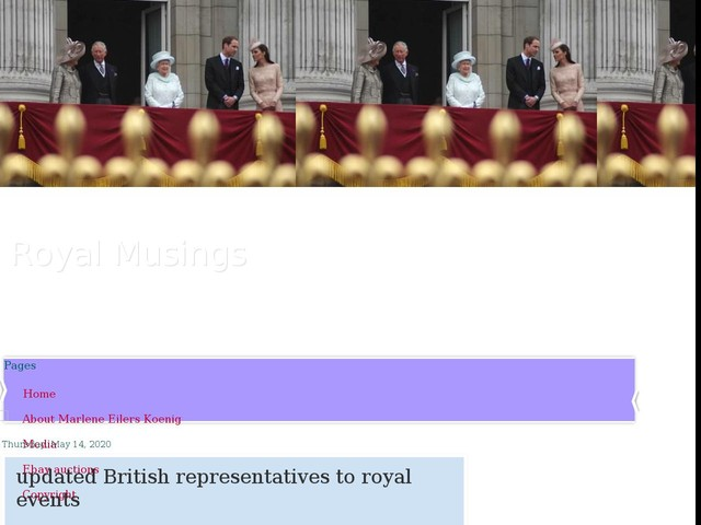 updated British representatives to royal events