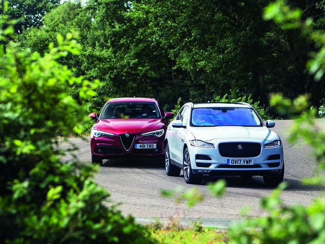 Jaguar F-Pace vs Alfa Romeo Stelvio - sports SUV twin test