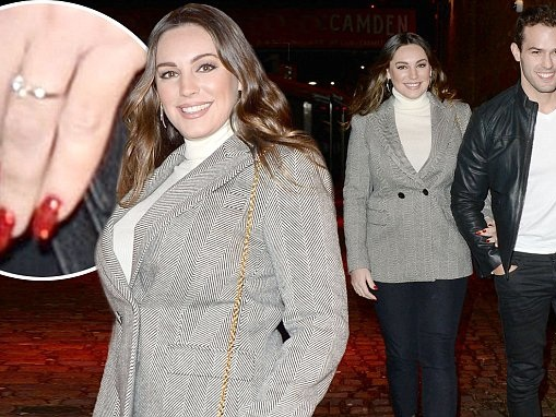 Kelly Brook flaunts ring on date with Jeremy Parisi