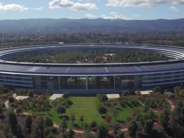Apple's jaw-dropping 'spaceship' campus is open — take a look from above (AAPL)
