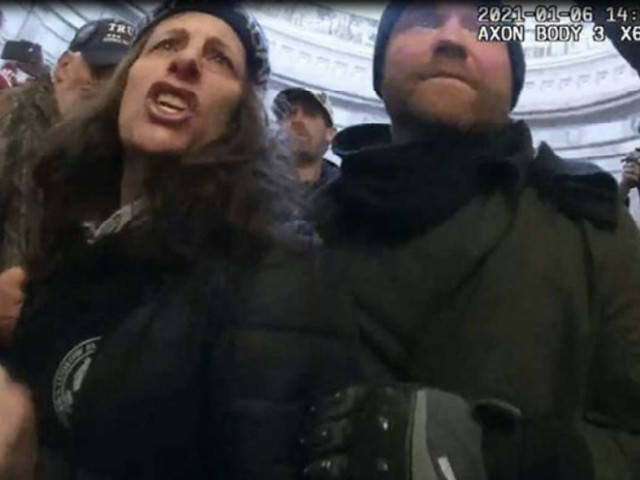 Capitol rioter screams and says she has right to 'self determination' as judge sends her to jail
