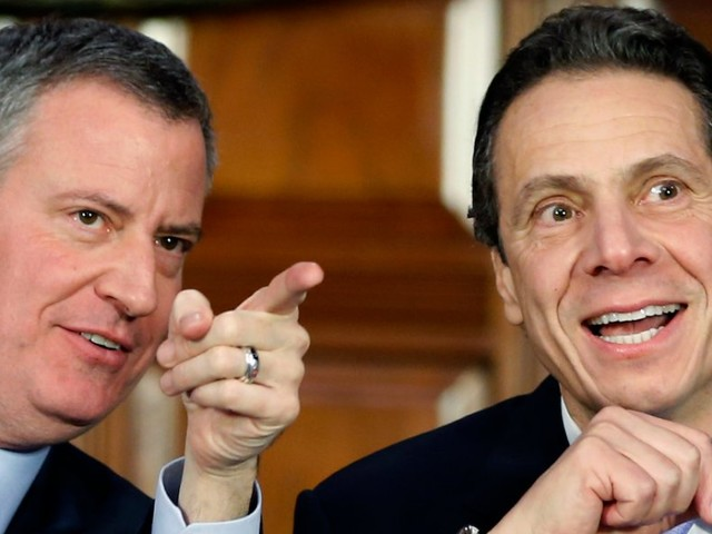 Andrew Cuomo and Bill de Blasio hold jubilant press conference announcing Amazon HQ2 in Queens