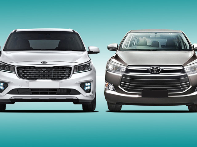 Kia Carnival vs Toyota Innova Crysta: Specifications comparison