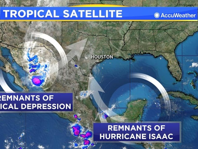 DAILY TROPICAL UPDATE: The remnants of a hurricane and a tropical depression combine over Texas this weekend
