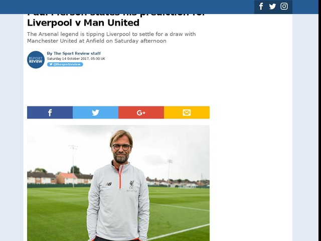 Paul Merson states his prediction for Liverpool v Man United