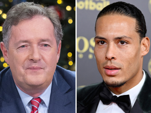 Ballon d'Or runner-up Van Dijk hits back at Piers Morgan after GMB star says Liverpool ace is 'not in Ronaldo's league'