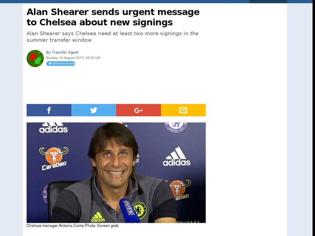 Alan Shearer sends urgent message to Chelsea about new signings