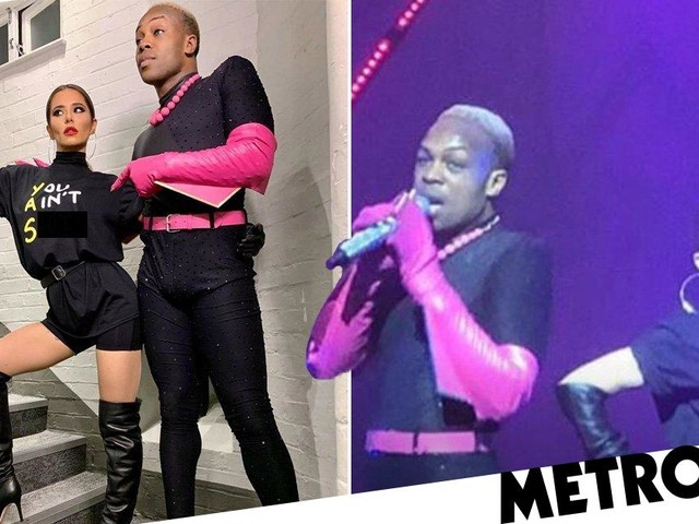 Cheryl rocks the stage in all-black outfit as she busts a move with Greatest Dancer co-star Todrick Hall