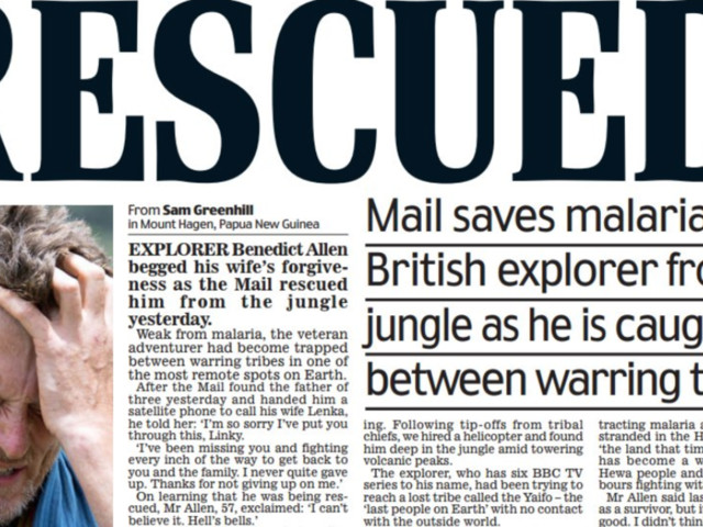 Daily Mail's Front Page Claim It 'Rescued' Rubbished By Mail On Sunday
