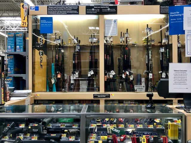 A gun advocacy group says its members were able to bring their guns into Walmart even though it is now asking people to stop openly carrying firearms in stores