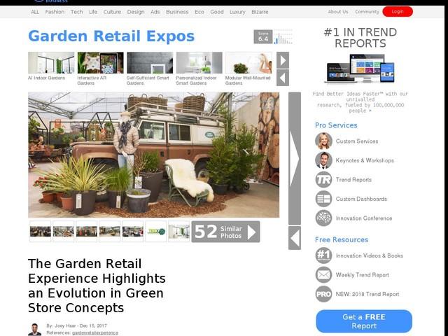 Garden Retail Expos - The Garden Retail Experience Highlights an Evolution in Green Store Concepts (TrendHunter.com)