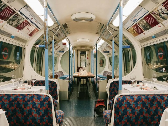 Dinner in a tube train